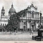 Disegno del Duomo e della fontana dell'Elefante