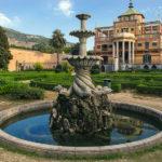 Scorcio della Palazzina CInese e del Giardino all'italiana