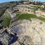 Teatro greco di Siracusa visto dall'alto