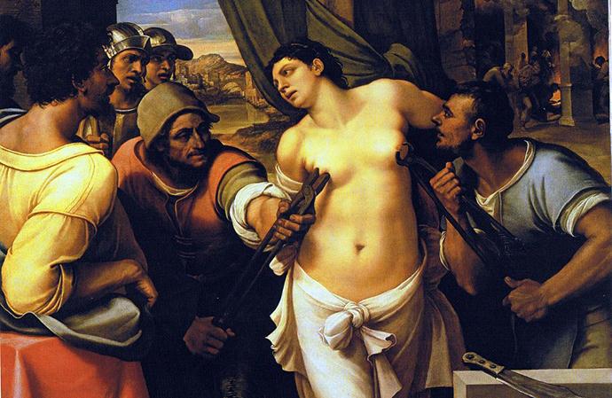 Martirio di Sant'Agata - Sebastiano del Piombo