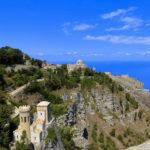 Torretta Pepoli incastonata sul monte Erice