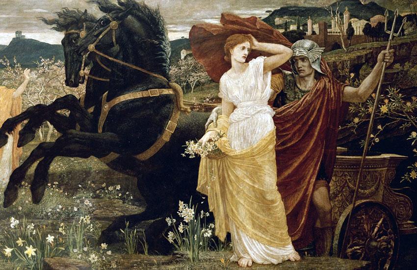 Plutone e Prosèrpina. Leggenda greca. Il-Ratto-di-Proserpina